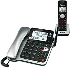 $69 » AT&T CL84102 DECT 6.0 Expandable Corded/Cordless Phone with Answering System and Caller ID/Call Waiting, Black, 1 Corded and 1 Cordless Handset