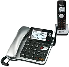 AT&T CL84102 DECT 6.0 Expandable Corded/Cordless Phone with Answering System and..