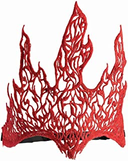 Forum Novelties Lace Flame Crown, Red, Standard