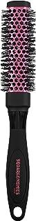 Denman DSQ2 Pink Hair Straightening & Styling Vented Square Barrel Brush for Women –Salon, Professional Brush - Medium