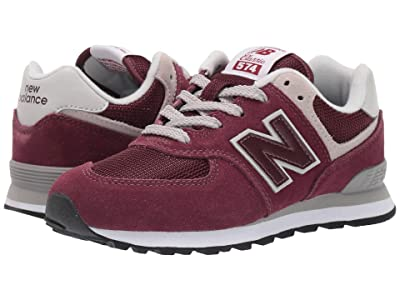 New Balance Kids PC574v1 (Little Kid) (Burgundy/Grey) Boys Shoes