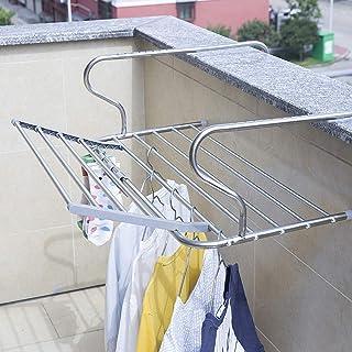 Aireador plegable Secador Rack Toalla Carril Lavadero Secador de ropa Ideal para radiadores Caravanas de barandas, balcones interiores Profundidad ajustable Acero inoxidable ( color : B , Tamaño : M )