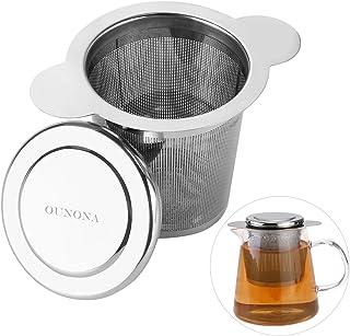 OUNONA Infusor de Te Filtros para Te Acero inoxidable 304 con la tapa para las tazas, las tazas, y los potes flojos del té del grano de la hoja