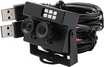 WDR Dual Lens USB Camera with IR LED with Case 2 MP USB Webcam Mini Camera Full HD 1080P USB with Cameras AR0230 Sensor US...