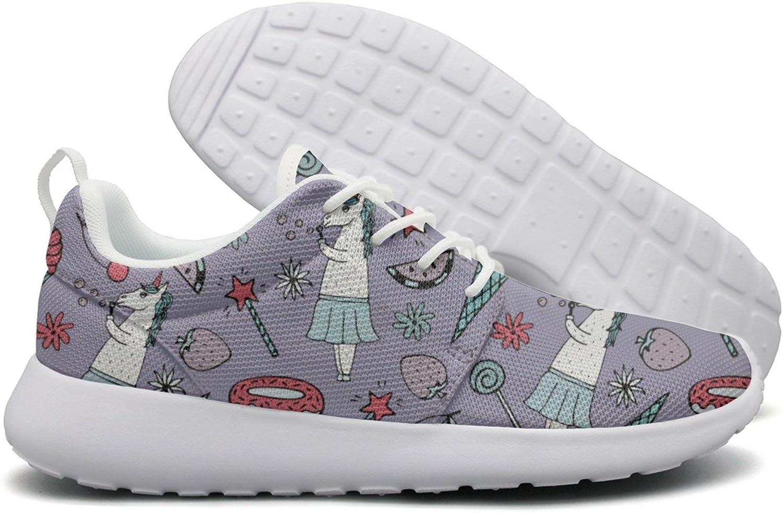 ERSER Lavender Ice Cream Donut Unicorn Watermelon Running shoes Youth Girls