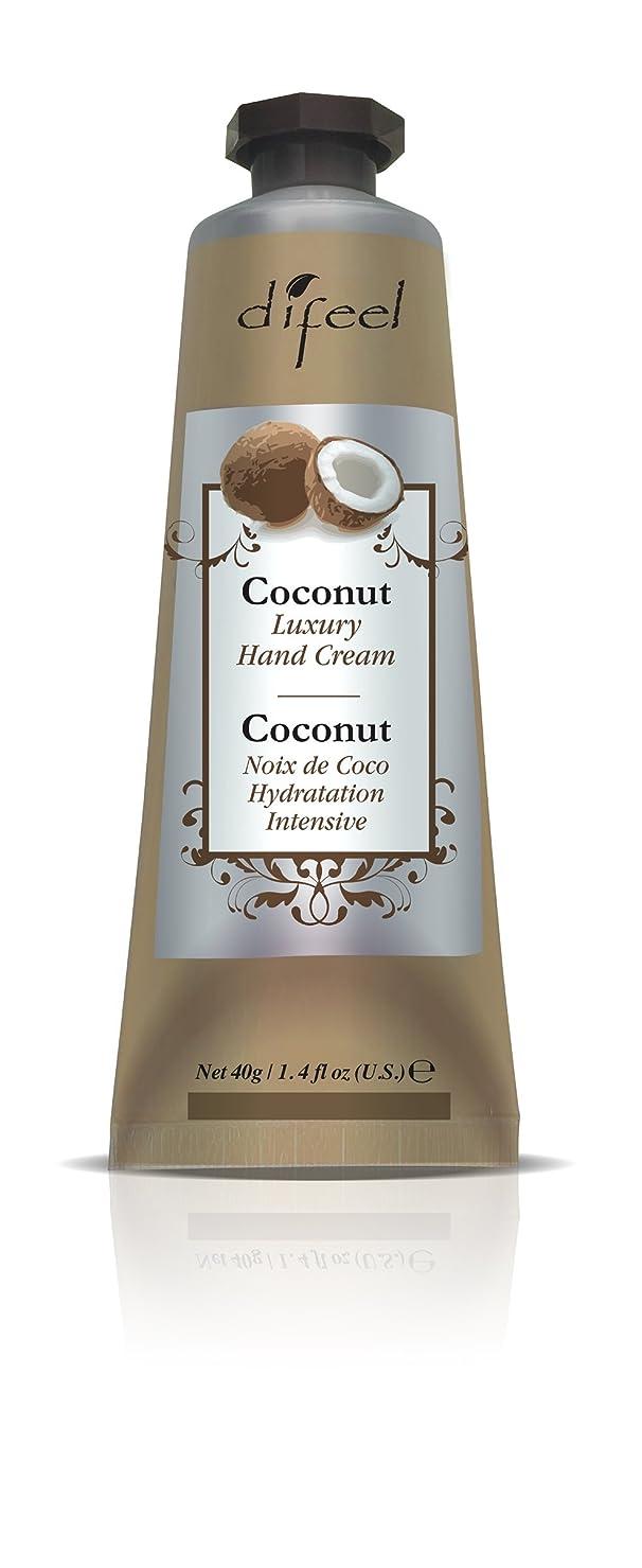 州伝記根絶するDifeel(ディフィール) ココナッツ ナチュラル ハンドクリーム 40g COCONUT 11COCn New York