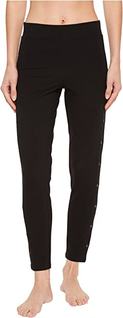 Compact Cotton Ankle Leggings with Grommets