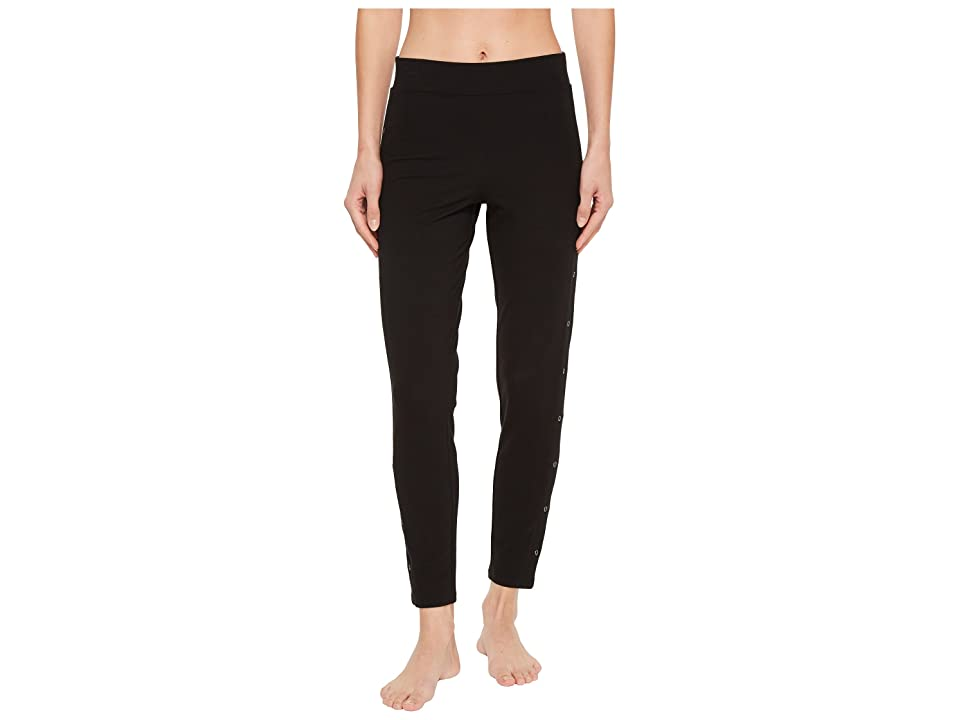 Yummie Compact Cotton Ankle Leggings with Grommets (Black) Women