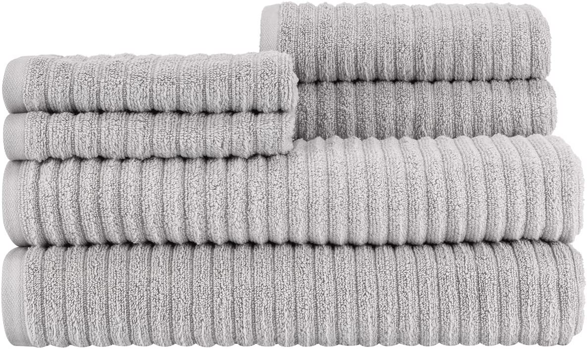 Infinity Rib Grey Bath Sheet Towel