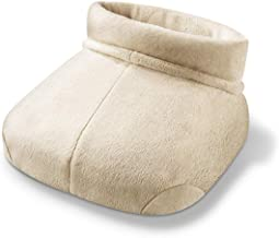 Beurer Shiatsu Soothing, Foot Warming Deep Tissue Massager, Relaxing Vibration with Optional Heat, Soft and Cozy, FWM50