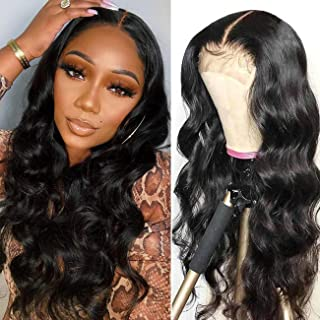 K'ryssma Body Wave Lace Front Wigs Human Hair with Baby Hair Pre Plucked Brazilian Remy T Part Human Hair Wig with Middle ...