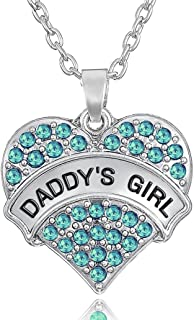 'Daddy's Girl'' Love Heart Pendant Necklace for Girls and Teens