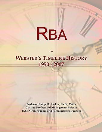 Rba: Websters Timeline History, 1950 - 2007