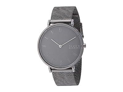 Skagen Hald Two-Hand Stainless Steel Mesh Watch (SKW2814 Gunmetal Stainless Steel Mesh) Watches