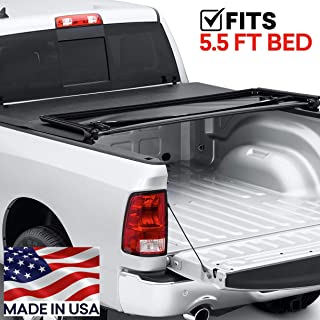Tonneau Cover for Ram 1500 2019 5.5 ft. bed w/o RamBox New Body Style w/ 6-Lug Wheels Trident FastFold 69208