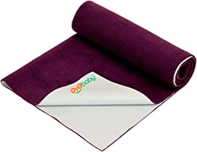 Oyo Baby Quickly Dry Super Soft Waterproof and Reusable Mattress Protector, Medium, Plum