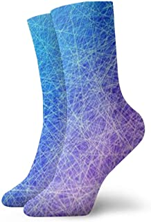 Luxury Calcetines de Deporte Rainbow Blue Line Adult Short Socks Cotton Cool Socks for Mens Womens Yoga Hiking Cycling Running Soccer Sports