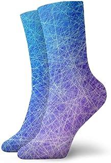 Luxury Calcetines de Deporte Rainbow Blue Line Adult Short Socks Cotton Cool Socks for Mens Womens Yoga Hiking Cycling Running Soccer Sports
