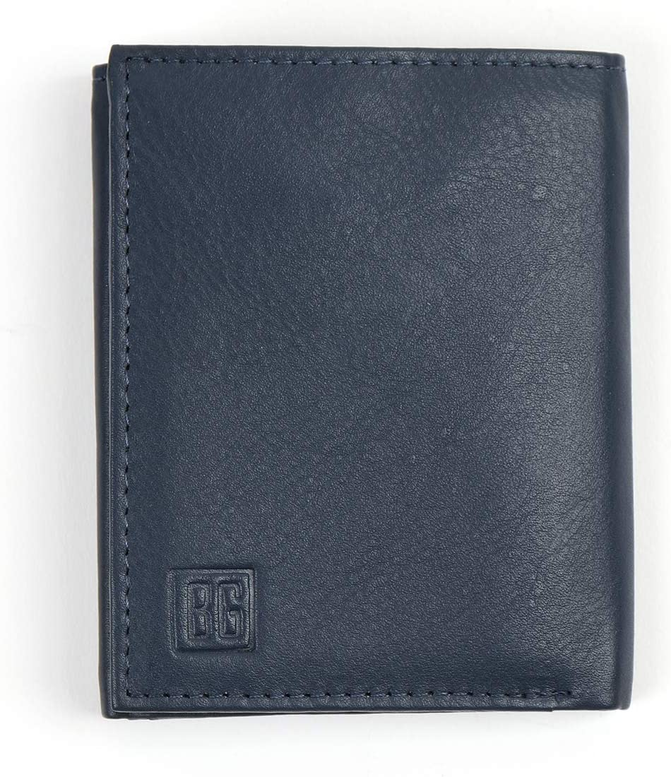 Boxed-Gifts: Men's RFID Protection Genuine Leather Tri-Fold Wallet - Sleek and Stylish Design