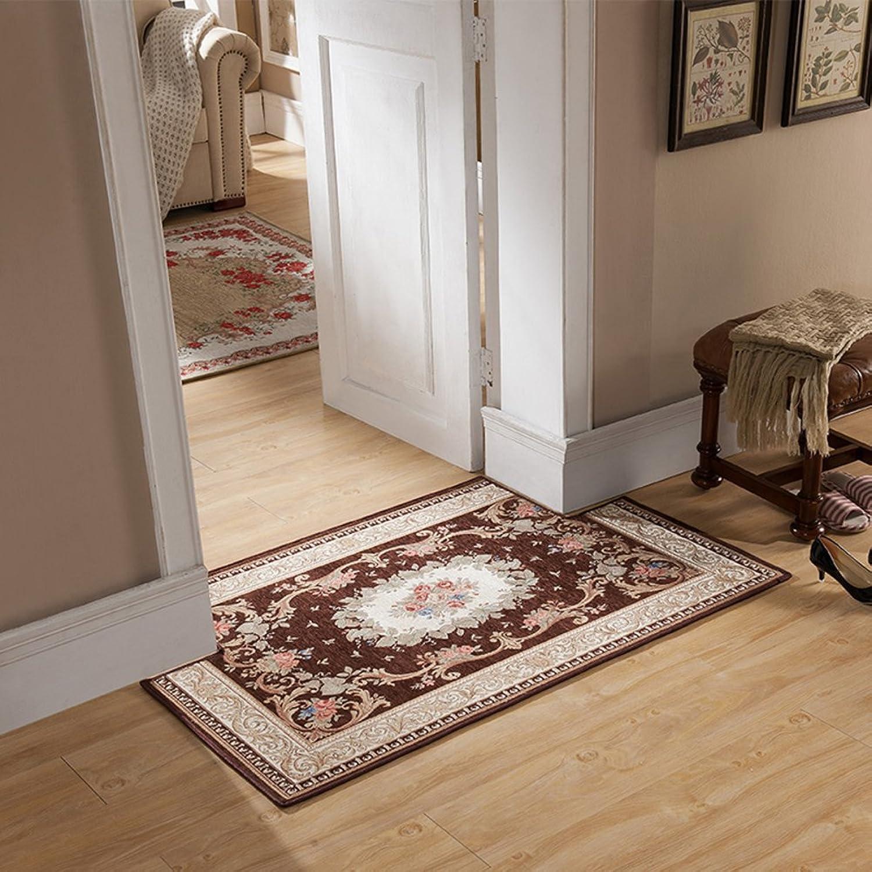 European-Style Entrance Door mats Door Entrance Floor mats Bedroom Kitchen Bathroom Water Slip Door mat Step pad-G 90x90cm(35x35inch)
