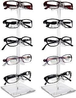 Mooca 2 Piece Acrylic Eyeglasses Frame Riser (5 Frame Stand, 2 pcs)