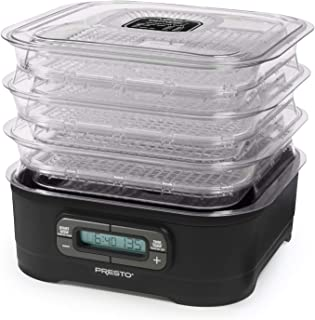 National Presto Dehydro Digital Electric Food Presto Dehydrator, Up to 12 Trays, Black (Renewed)