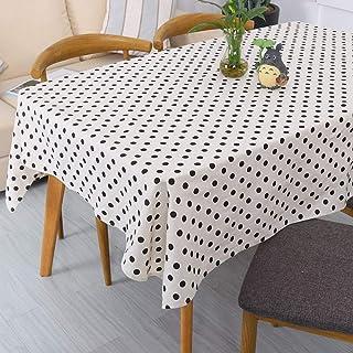 LYDCX Nórdico Simple Cuadros A Cuadros Amarillo Punto Blanco Y Negro Pequeño Pino Geométrico Vajilla Mantel De Algodón Y L...