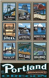 Portland Bridgetown Travel Art Print Poster by Paul A. Lanquist (12