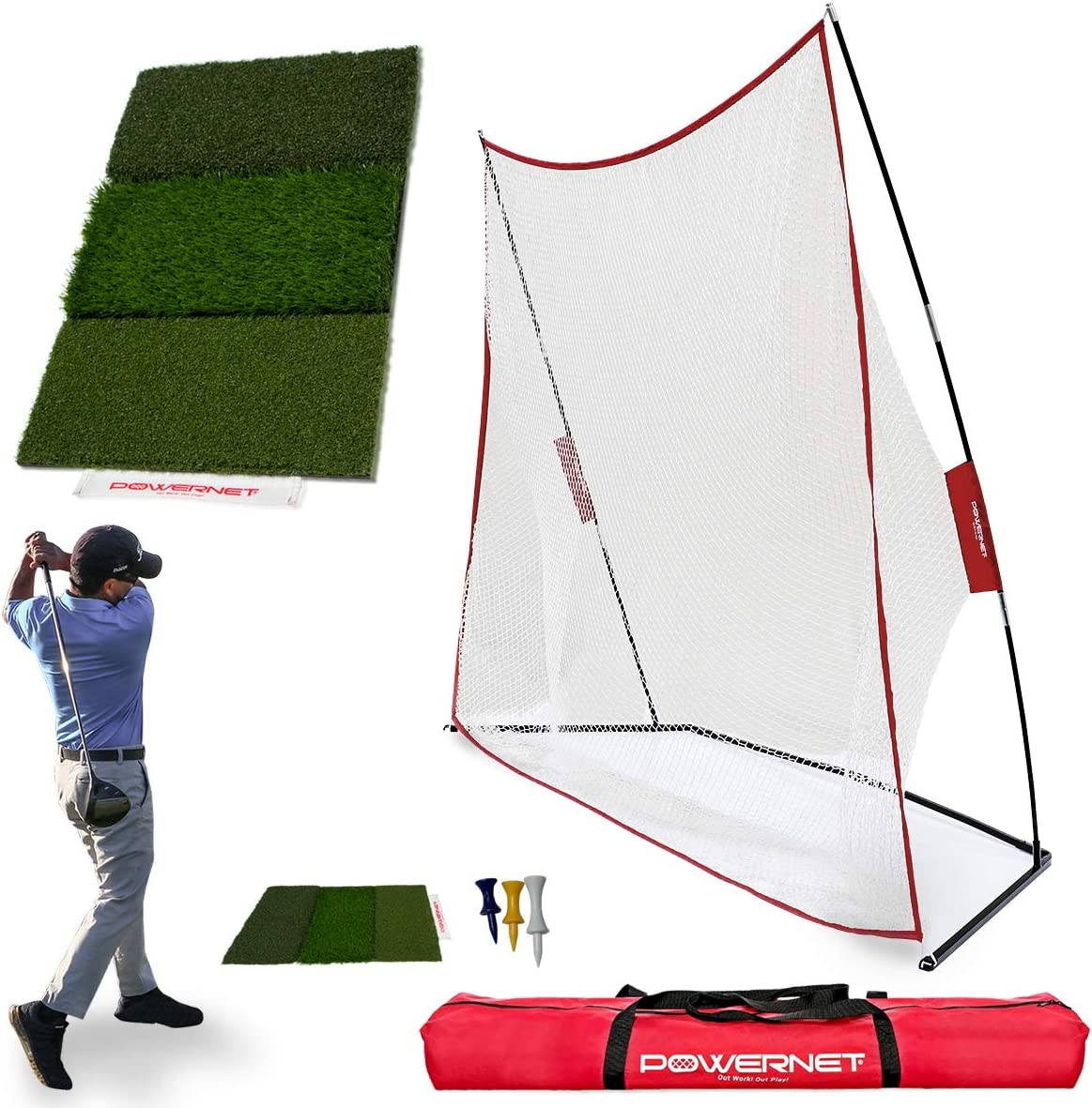 Purchase PowerNet Ranking TOP19 Golf Net and Mat on Work Bundle Tri-Turf Drives
