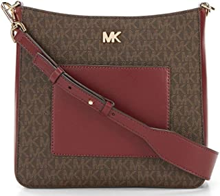 6ad296c7fe6315 Michael Kors Gloria Leather PVC Pocket Swing Pack Crossbody in Brown Oxblood