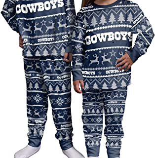 OuterStuff Cowboys Navy/Silver Holiday Infant - Kids Pajamas