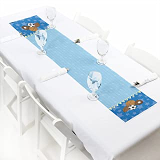 Big Dot of Happiness All Star Sports - Petite Baby Shower or Birthday Party Paper Table Runner - 12 x 60 inches