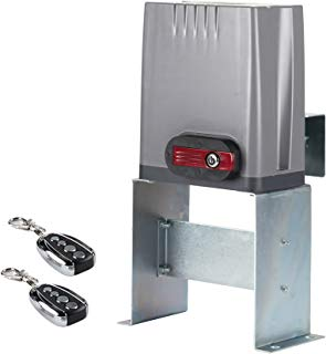 CO-Z Sliding Gate Opener with Wireless Remotes, Roller Gate Motor, Automatic Slide Gate Operater Kit for Fence Driveway, Auto Chain Gate Opener Hardware with Controllers(for 1800lbs Gate)