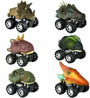 Car Toys Set for Kids,Pull Back Dinosaur Cars for 2-6 Boy Year Old Pull Back Vehicles Toys for 2-7 Age Boys Toy Cars Dinos...