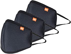 Wildcraft W- 95 Mask Pack of 3 Black Adults HypaShield Reusable 6-Layer Anti-Pollution Outdoor Masks (BLACK PACK OF 3)