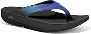 Women's Oolala Thong Flip-Flop, Black/Blue Jay, 8 M US