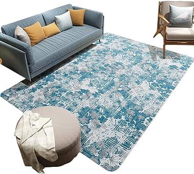 Creative Vintage Flowers Carpet Home Living Room Sofa Anti-Slip Mat Comfortable Soft Bedroom Bedside Rug Rectangular Decorati