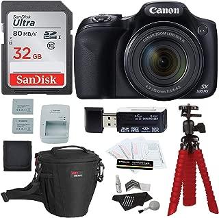 Canon PowerShot SX530 HS Digital Camera + Sandisk 32GB Memory Card + Tripod + Ritz Gear Bag + Card Reader + Cleaning Kit + Spare Battery Bundle