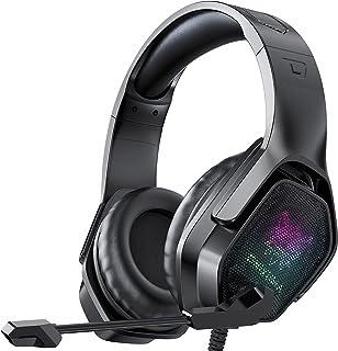 Casque Gaming, Casque de Jeu 7.1 Stereo Surround Sound Wired avec Micro Anti-Bruit et Contrôle en Ligne, Casque pour PS4, ...