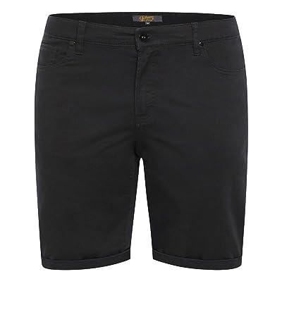 Johnny Bigg Big Tall Marshall Elastic Chino Shorts (Black) Men