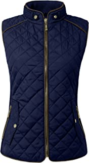 Womens Lightweight Quilted Padding Zip Up Vest Gilet(S-3XL)