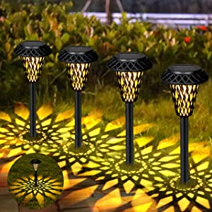 Orelpo Solar Pathway Lights Outdoor 8 Pack, LED Solar Garden Lights, Outdoor Solar Landscape Lights Waterproof Warm Light Path Lamps for Pathway, Walkway, Patio, Yard & Lawn