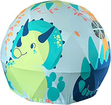 "SC Geodome Playhouse Dinosaur Diameter Play Boys Girls Asweet Kids Tent Indoor Imaginary Space and Sphere 63""x 55"""