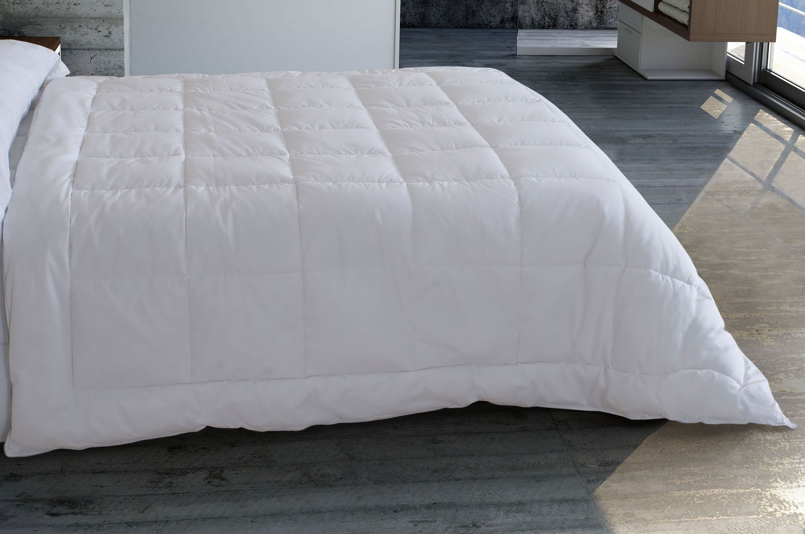 Algodón Blanco - Relleno Microfibra 400gr Transpirable Blanco 260X240: Amazon.es: Hogar
