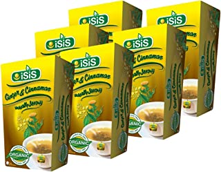 ISIS Egyptian Natural Ginger & Cinnamon Herbal Tea Healthy Life Style Daily Teabags Drinks To Carry It Everywhere For Perf...