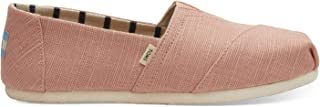 TOMS Coral Pink Heritage Canvas Women's Slip-On Shoes
