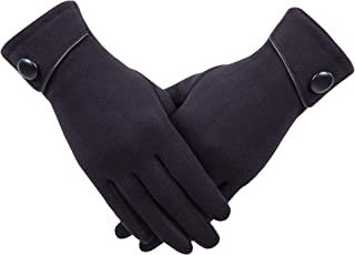 Womens Winter Warm Touchscreen Gloves Fleece Lined Cold Weather Thick Gloves by REDESS …