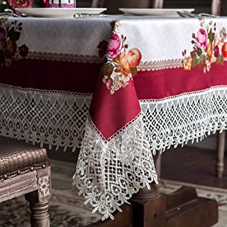 ARTABLE Lace Table Cloths Rectangle Fall Antique Flower Decor Macrame Tablecloth for Outdoor Farmhouse Rustic Kitchen Part...