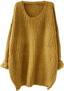 Milumia Women's Drop Shoulder Textured Roll-up Loose Knit Sweater