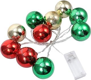 FRCOLOR Christmas Ball String Light 10 LEDs Battery Waterproof Fairy String Light for Christmas Tree Indoor Outdoor Weddin...